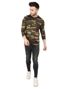 Peppyzone Men's Stylish Regular Fit T-Shirt (Pack of 1)