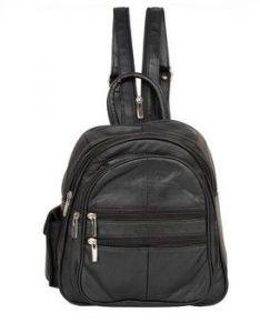 ASPENLEATHER Genuine Leather BackPack (Black)