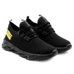 Men's Fashion Cotton & Casual Suitable Solid Shoes Black
