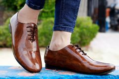 Bxxy's Men New Arrival Patent Material Party Wear Casual Oxford Shoes
