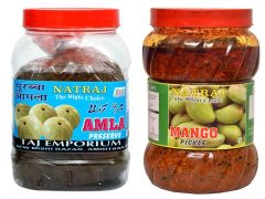 Natraj The Right Choice Homemade Taste Amla Murabba & Mango Pickle Achaar (Pack of 2) (2*1 Kg)