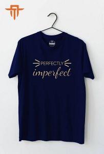 Mens Polycotton Round Neck, Half Sleeve T-Shirt (Navy Blue)