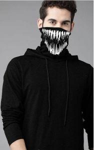Full Sleeve Elegant  Cotton Solid Hoodie Tees For Men & Boys (Black)