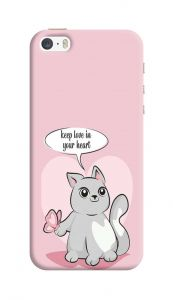 Attractive and Unique Keep Love in Your  Heart Design Printed I Phone 5/5S/5SE Mobile Cover