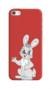 Cute Rabbit Printed, Attractive and Unique Design I Phone 5/5S/5SE Mobile Back Cover