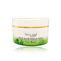 Beuty Aero All Type Skin Tulsi Aloe vera & Neem Face Mask For Soften and Brighten Skin (300 G) (Pack of 1)