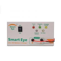 Smart Eye Automatic Battery Charger With 7 AH to 130 AH Battery Charging Capacity For Tabular, Inverter, AMF (Pack of 1)