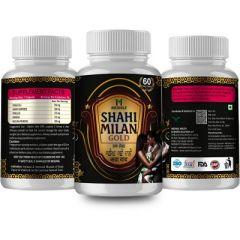 MEDNILE Shahi Milan Gold Capsule For Restores Energy & Improves Vitality, Physical S trength (60 Caps) (Buy 2 Get 1 Free)