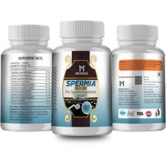 MEDNILE Spermia Gold Capsule For Beneficial in Abnormality of the Sperms, Increases Chances of Conception (60 Caps) (Buy 2 Get 1 Free)