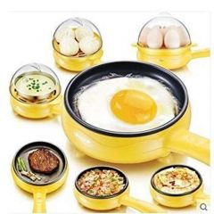 Multifunctional 2 In 1 Electric Egg Frying Pan With Egg Boiler Machine (Pack Of Pan With Egg Boiler)
