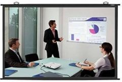 Spline Royality map Type (10 Ft.(Width) x 8 Ft. (Height) - 150 Inch,) Diagonal in 4:03 Ratio Aspect Supporting Projector Screen