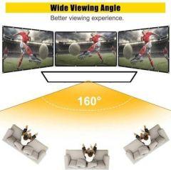 Spline Eyelet Foldable 120 8 Ft (W) x 6 Ft (H) Projector Screen (Width 244 cm x 183 cm Height)