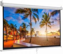 Autolock|Selflock Projector Screen|Locking Projector|Simple Portable Projector Screen (Width 304 cm x 243 cm Height)
