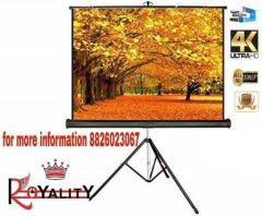 Tripod Stand Projector Screen Diagonal in 4:03 Ratio Aspect Supporting with Full HD Picture Quality Projector Screen (7 Ft.(Width) x 5 Ft.(Height) - 100 inches)