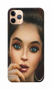 Unique and Attractive Beautiful Girl Printed Design Mobile Cover For I Phone 11 Pro