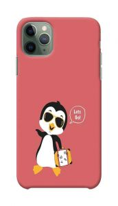 Penguin Travel Mode Printed Stylish and Attractive Design Mobile Back Cover For I Phone 11 Pro Max