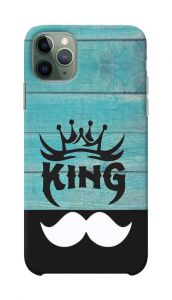 King White Muchh Printed Stylish and Attractive Design Mobile Cover For I Phone 11 Pro Max