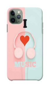 I Love Music Printed Stylish and Attractive Design Mobile Cover For I Phone 11 Pro Max