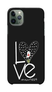 Love Heart Printed Stylish and Attractive Design Mobile Back Cover For I Phone 11 Pro Max