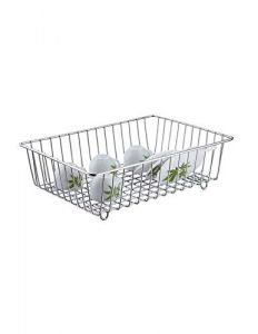 Mand Stainless Steel Premium High-Grade Dish Drainer For Kitchen (Silver) (Pack of 1)
