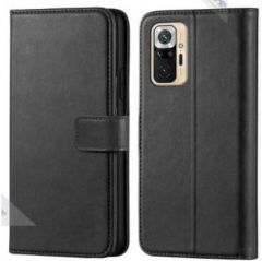 High-Quality Material Leather Wallet Flip Cover For Mi Note 10 Pro (Black)