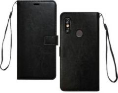 High-Quality Material Leather Wallet Flip Cover For Mi Redmi Note 5 Pro (Black)