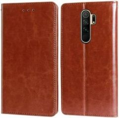 High-Quality Material Leather Wallet Flip Cover For Mi Note 9 Prime (Brown)