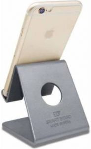 High-Quality Metal Mobile Stand Holder Compatible With all Smart Phone (Silver)