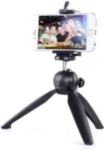 Photography 23YV_Realm_e 3366 Tripod Mobile Camera Stand with 360 Rotation for Vlogging, Video Shooting & YouTube (Black)