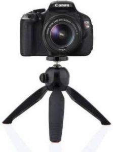Photography 21CX_opp_o YT-228 Mini Tripod Mobile Camera Stand for Vlogging, Video Shooting & YouTube (Black)
