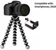 Photography 1WT_opp_o Flexible, Portable & Foldable Gorilla Tripod for All Cameras and Smartphones (Black & White)