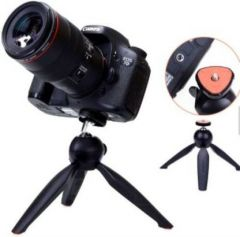 Photography 4TQ_realm_e 3366 Tripod Mobile Camera Stand with 360 Rotation for Vlogging, Video Shooting & YouTube (Black)
