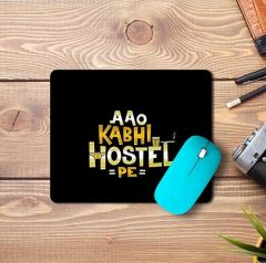 High-Quality Material Anti-Slip Aao Kabhi Hostel Design Mousepad For Computers