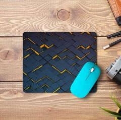 High-Quality Material Anti-Slip Yellow Blue Block Design Mousepad For Computers