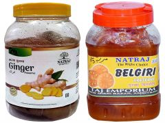 Healthy and Tasty Natraj The Right Choice Ginger and Belgiri Murabba (Pack of 2) (2*1 Kg)
