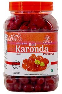 Healthy and Tasty Natraj The Right Choice Candied Karonda Red Cherries Murabba for Cakes & Cookies (Pack of 1) (800 g)