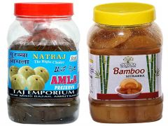 Healthy and Tasty Natraj The Right Choice Bans and Amla Murabba (Pack of 2) (2*1 Kg)