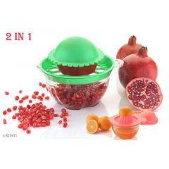 2X Pomegranate Deseeder Peeling Fruit Tools Gadgets Pomegranate Peeling Bowl (Pack Of 1)