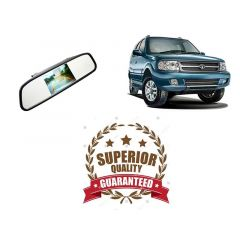 4.3 TFT LCD Color Monitor Car Reverse Rear View Mirror For Backup Camera For Tata Safari Strome (Package Includes: 1x 4.3 Car TFT LCD Monitor Mirror 1x Power cable)