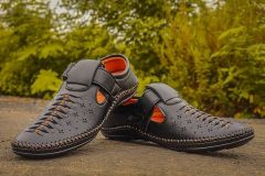 Trendy Black Solid Synthetic Casual Comfort Sandals For Men