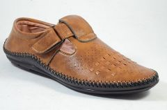 Mens Stylish & Trendy Brown Solid Synthetic Casual Comfort Sandals