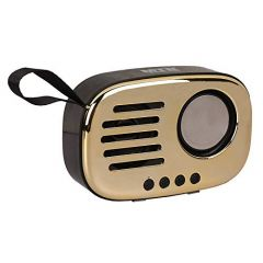 Mand Bluetooth Portable Mini Retro Speaker (Golden) (Pack of 1)