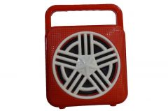 Mand RP-100 Wireless Mini Portable Bluetooth Speaker (Red) (Pack of 1)
