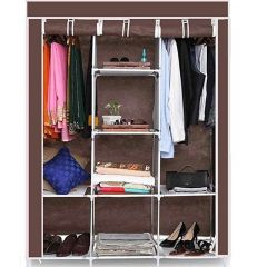 Wardrobe Storage Rack Organizer Made With High Quality Steel Tube And Pp Plastic (Pack Of 1)