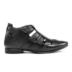 BXXY 3 Inch (7.6 cm) Height Increasing Casual Leather Roman Sandals for All Occasions (Instant 3 Inches Hidden Height Gainer)