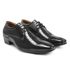 Bxxy's Men New Arrival Height Increasing Faux Leather Material Casual Derby Shoes