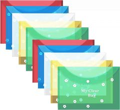 Document File Folder Full-Size A4, high Quality, Multicolor (Pack of 10 Pcs)