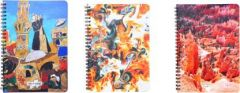 Toss Designer A5 & 128 Pages Notebook (Multicolor) (Pack of 3)