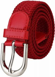 Women Formal, Casual Canvas Belt (Red) (Pack Of 1)