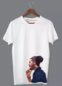 Frndmart A Stylish Man White Printed T-Shirt | Round Neck T-Shirt For Men's